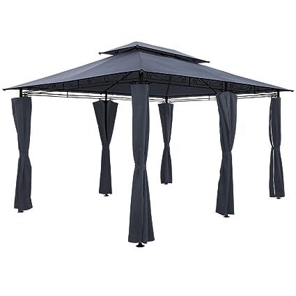 ArtLife Pavillon Capri 3 x 4 m anthrazit Festzelt Gartenpavillon Pavillion Partyzelt mit Metall Gestell /& doppeltem Dach
