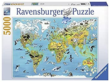 Ravensburger 17428 puzzle world map 5000 pieces by ravensburger ravensburger 17428 puzzle world map 5000 pieces by ravensburger gumiabroncs Choice Image