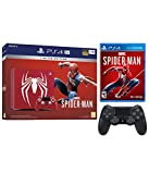 Playstation 4 Pro Marvel's Spider-Man Limited Edition Amazing Red 1TB Console with Extra Black Dualshock Wireless Controller Bundle