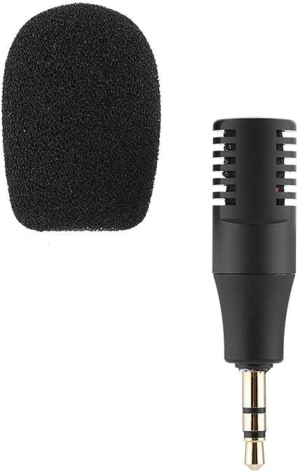 Mini micrófono para teléfono, micrófono Estéreo de 3,5 mm Portátil para iPhone Smartphones Windows Android, Youtube Interview Estudio: Amazon.es: Electrónica