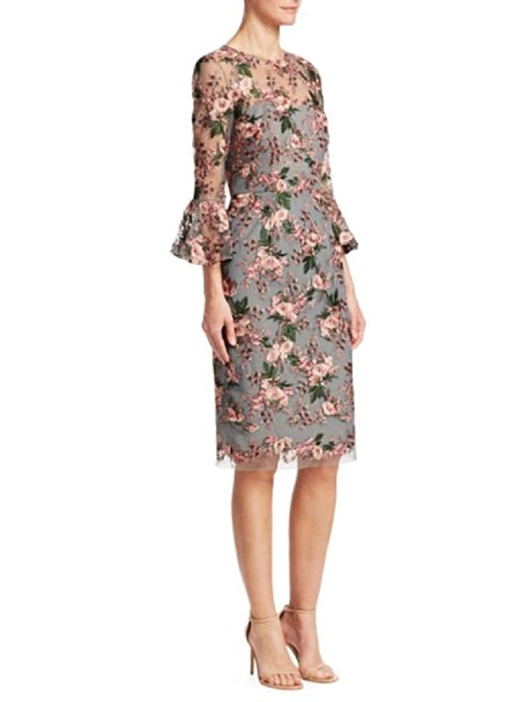 084f9a536a David Meister Women s 3 4 Sleeve Floral Cocktail Dress 10 Pink Multi at Amazon  Women s Clothing store