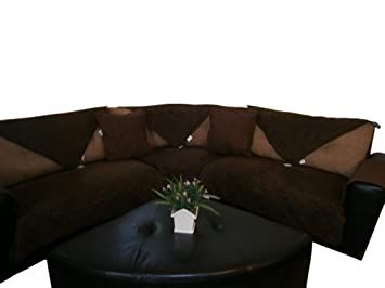 Amazon Com Octorose Quilted Micro Suede Sectional Chaise Lounge