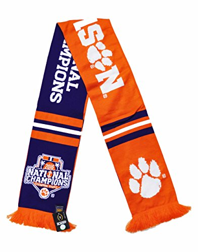 Official 2016 Clemson CFP National Champions Knitted Scarf - Alternate Design