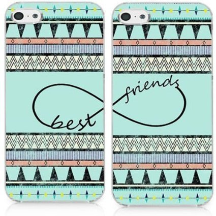 Shark Compatible Infinity Best Friends Style Aztec Matching Couple Cases Replacement for (Two Cases for iPod Touch 5)