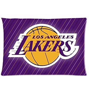 NBA Los Angeles Laker Logo Custom Design Pillowcase Pillow Sham Queen Size Pillow Cushion Case Cover Two Sides Printed 20x30 Inches