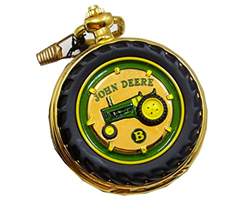John Deere Pocket Watch Tractor Model B Franklin Mint Collectible Pocketwatch (John Deere Fossil Watch)