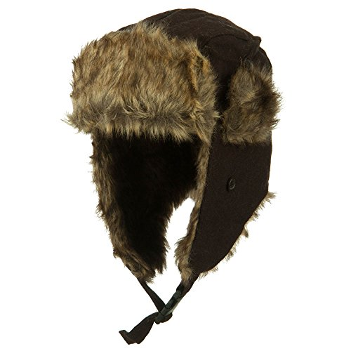 Winter Fur Trooper Hat - Brown OSFM