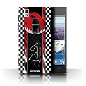 STUFF4 Phone Case / Cover for Huawei Ascend P2 / Bahrain/Sakhir Design / F1 Track Flag Collection