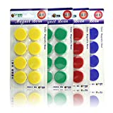 FLY SPRAY Magnets for Whiteboards Refrigerators and Office Cabinets 4-Pack Circular Magnetic Button 4-Color