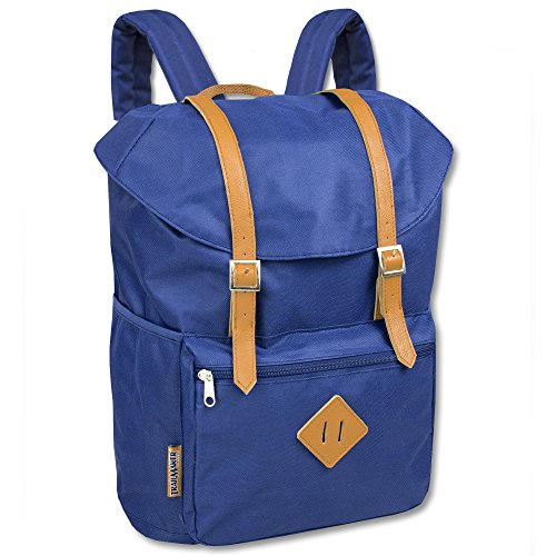 Heritage Flap Backpack With Vinyl & Padding (Blue) Bell Pass Ventures