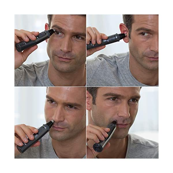 Panasonic Men's Ear and Nose Hair Trimmer, Wet Dry Hypoallergenic Dual Edge Blade - ER-GN30-H 7