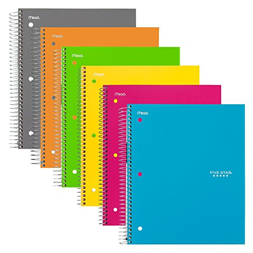 043100061120 - MEA06112 Trend Notebooks, Perforated, 5-Subject, 200/Sht, Assorted Colors carousel main 8