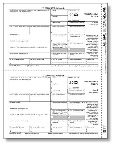 EGP Laser 1099, Miscellaneous Income, Recipient Copy B