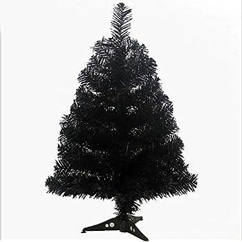 prettybuy christmas tree with plastic stand3 feetpvc black - 3 Christmas Tree