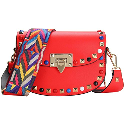 Mini Crossbody Bag, Bagerly 2017 New Fashion PU Leather Shoulder Bag For Women Girls (Red) (Red Handbag New)