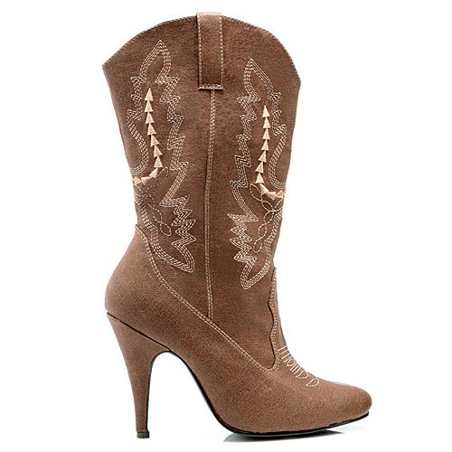 Women's 4 Inch Heel Ankle Cowgirl Boot With Stiletto Heel (Brown;11)