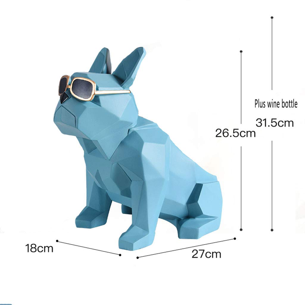 Wine Rack Decoration-Resin Mechanical Dog Wine Rack Wine Cabinet Decoration Ornaments Living Room TV Cabinet Creative Home Small Furnishings 1.52718 (Color : B)