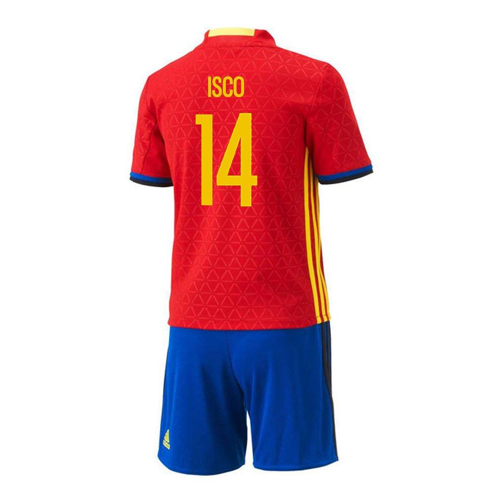 【お買い得!】 Adidas ISCO 2016 #14 Spain Home Mini Kit UEFA スペイン Euro Euro 2016/サッカーユニフォーム ミニセット スペイン ホーム用 イスコ 背番号14 Euro 2016 B01BI9066E 2T, 小笠町:fbced102 --- cafestar.in