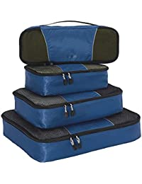 Packing Cubes for Travel - 4pc Classic Plus Set - (Denim)