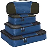 eBags Classic Packing Cubes for Travel - 4pc Classic Plus Set - (Denim)