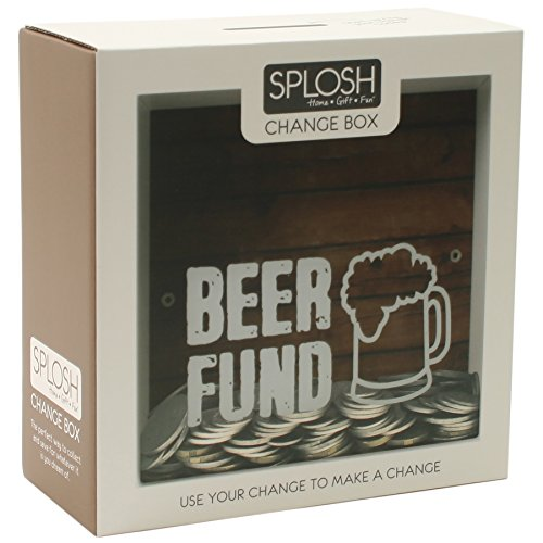 Fund Jar (Splosh Change Box Coin Money Savings Fund Jar Container for Dream Fulfillment (Beer Fund))