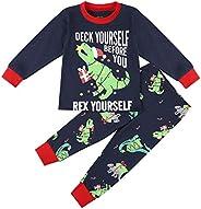 Baby Boys Dinosaur Pajamas Little Kid Toddler Boys' 2-Piece Snug Fit Cotton Sleepwear Set Size 2