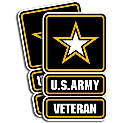 "Veteran us army decal. 3""x5"" In. Can Be Applied to any Smooth and Clean Surface: Windows, Walls, Car Body, Car Bumpers, Laptops, Folders, etc. Buy - Edwin Group of Companies."
