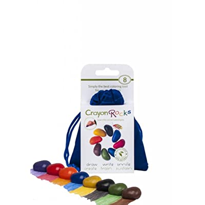 Crayon Rocks 8 Colors in a Blue Velvet Bag: Juguetes y juegos