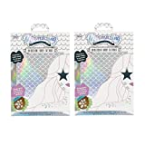 Mermazing Iridescent Cut and Customize Temporary Body Tattoos Pack of 2