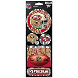 WinCraft NFL San Francisco 49ers Prismatic Stickers, Team Color, One Size