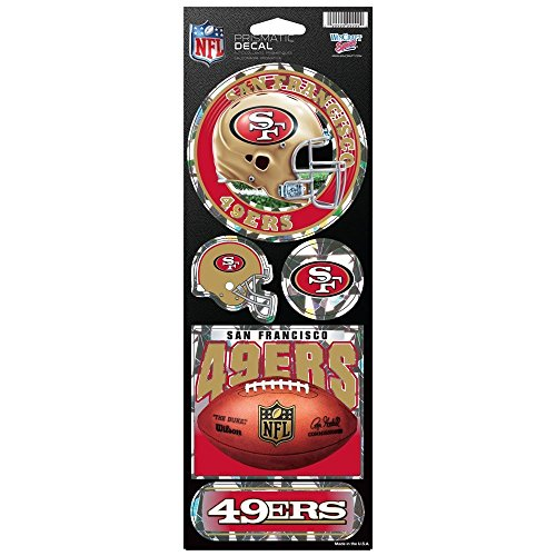 - WinCraft NFL San Francisco 49ers Prismatic Stickers, Team Color, One Size