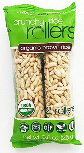 Crunchy Puffed Rice Cracker Bar, Snack Roll Made from Real
