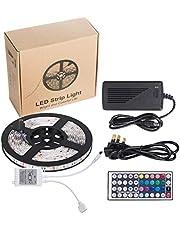 Toplus Waterproof SMD 5050 RGB 16. 4ft 5M 300leDs مصابيح LED عاكسة للضوء متغيرة اللون مع حبل مصابيح LED مرنة