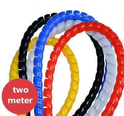 Cable Bundler (6.5 Feet) - 1'' Width - Flexible & Expandable Cable Management Sleeve (white)