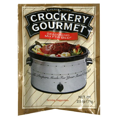 Crockery Gourmet Seasoning Mix for Beef, 2.5-Ounce Packets (Pack of 12) by Crockery Gourmet