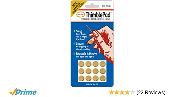 12 Per Package Colonial Needle Thimblepads12pkg Colorbok Sm100 Thimble Pad