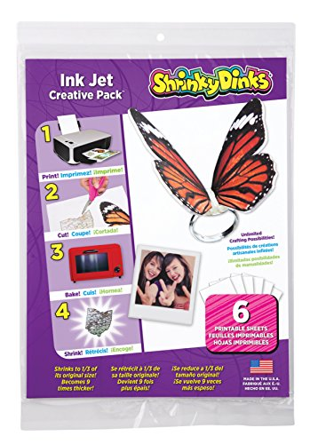 Shrinky Dinks Creative Pack 6 Sheets for Ink Jet Printers Kids Art and Craft Activity