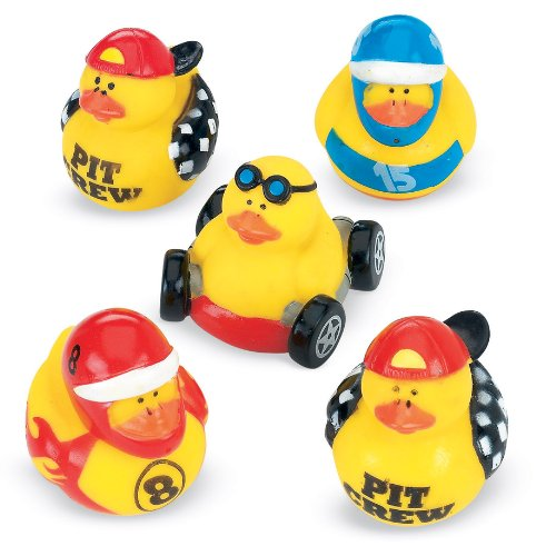 Rubber Ducks Car Race - SmileMakers Race Car Rubber Duckies - 12 per pack