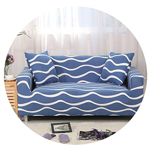 All-Inclusive Flexible Sofa Cover for Living Room Elastic Stretch Modern Geometric Printing Couch Cover Slipcovers cubre Sofa,Color 5,2seater 145-185cm (Beyond Kelowna Bath Bed And)