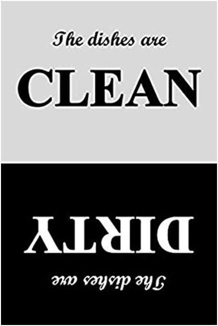 Dishwasher Magnet Clean Dirty Sign - Strongest Magnet waterproof Sign - Black and White Refrigerator Magnets - 4 x 6 Inch, Suitable for All Dishwashers!