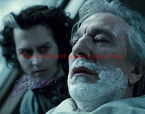 Alan Rickman Sweeney Todd The Demon Barber of Fleet Street Autographed 8x10 Glossy Photo ()