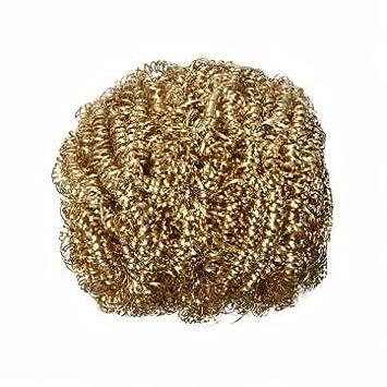 Punta para limpiar la Souked soldador de cabeza de cobre de alambre de acero de pelota de esponja: Amazon.es: Electrónica