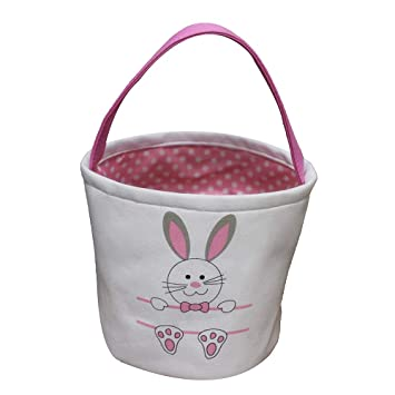 LO LORD LO Easter Basket for Kids Bunny Bag for Easter