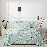 flower bed designs Joyreap 3 Pieces Polyester Quilt Set, Microfiber Summer Quilt, Elegant Flower Design Bedspread, Bed Cover for All Season, 1 Quilt and 2 Pillow Shams (Floral,King)