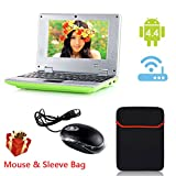 "eForprice 7"" Mini Notebook Laptop Computer Netbook Android 4.2 System 4GB Storage VIA 8880 Cortex-A9 1.2ghz Wifi Windows Hd Solid Black Mini Laptop 7 Inch Netbook Notebook Computer Tablet Pc, Installed Wifi and Camera, Watch News, Youtube Facebook Twitter, Supports Netflix, Word/excel/power Point, 2 USB Ports, Sd Card Slot, Hdmi Port to Connect with Tv - Green"