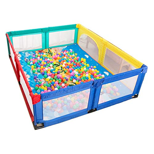 LXLA - Baby Playpen with Crawling Mat and 100 Balls Portable Baby Kids Play pens Kids Activity Center Room - 200 x 250 x 70CM (Color : Style 1) from LXLA - play yard