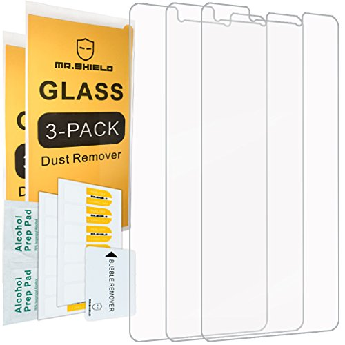 [3-PACK]- Mr Shield For Huawei Honor 6X [Tempered Glass] Screen Protector [0.3mm...