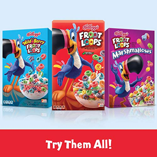 Kellogg's Froot Loops, Breakfast Cereal, Original with Marshmallows, Excellent Source of Vitamin C, 10.5oz Box