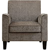 Pulaski Mid Century Modern Upholstered Accent Arm Chair, 32 x 32 x 34, Taupe