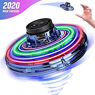 Hand Operated Drone for Kids Adults, 2020 New Patented Design Flying Toys, Hand Drone with Scintillating RGB Light, Mini Drones Easy to Control Self Flying Drone, Gifts for Boys Girls and Friends